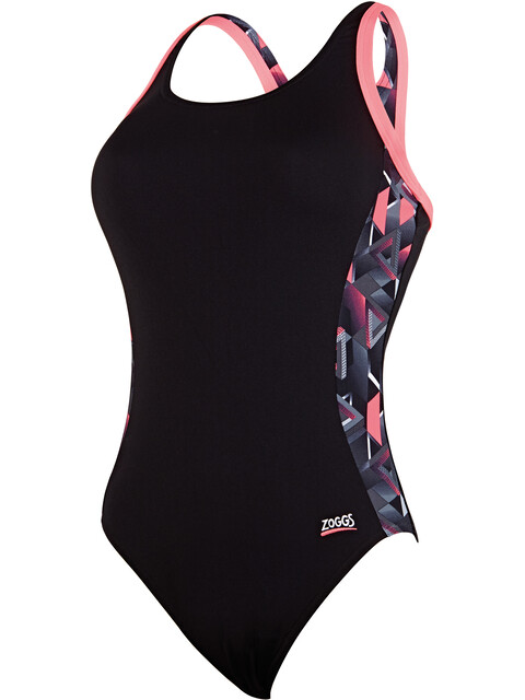 Zoggs Chaos Atomback Swimsuit Women black/multi